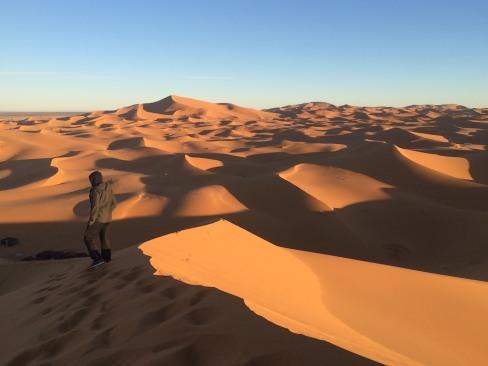 C'est parti, on descend des dunes déjà...